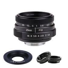 25mm f/1.8 CCTV Movie Lens for Panasonic Olympus m4/3 Mount cameras GH1 GH2 EM10