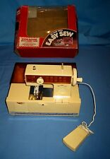 VTG Battery Operated Child's Toy Sewing Machine Caring Case W/Box.!