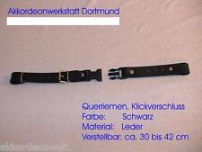 Querriemen für Akkordeon,verstellbar ca.30 bis 42 cm, Leder,accordion back strap