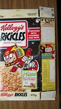 More details for kellogg's ricicles captain ric empty cereal packet 1991 -super door plaque offer