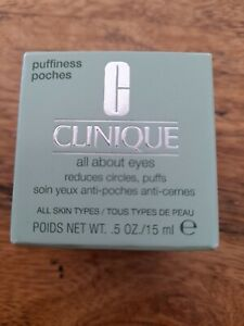 Clinique All About Eyes Rich 15ml - Moisturiser For All Skin Types - New