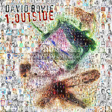 LARGE MOSAIC PHOTO POSTER IN COLOUR OF DAVID BOWIE'S ALBUM 'OUTSIDE'