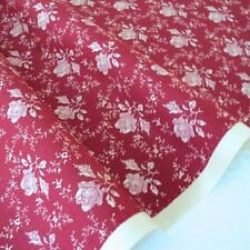 TOILE ROSE - RICH RED - FLORAL COTTON FABRIC per m FRENCH CHIC RETRO