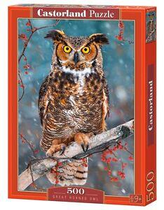 Castorland B-52387 Puzzle Great Horned Owl Eule Vogel Natur Tiere 500 Teile