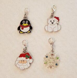 Handcrafted Christmas Pet Dog Diamante or Enamel Collar Charms Festive Xmas