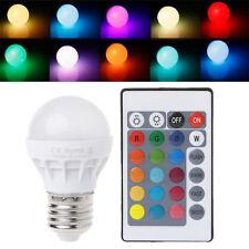 AC 85-265V 3W E27 RGB LED Light Bulb Lamp Color Changing + IR Remote Control New