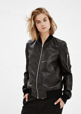 Rick Owens Black Kangaroo Leather Bomber Flight Jacket IT 44  US 10 NEW $3K