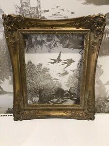 Antique Striking Rococo Baroque Vintage Gold Gilt Picture Frame