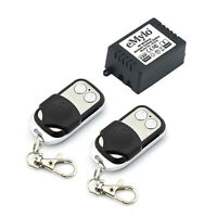 DC 12V 1CH Wireless Remote Control Switch RF Relay 433MHz 1ch with 2 Transmitter