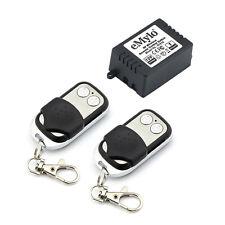 DC 12V 1CH Relay Wireless RF Remote Control Switch Toggle 2 Tranceiver Reciver