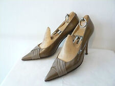 """Court Shoes """" Polish Beige Iced """" Years 1960 - Pierrot Paris T.37"""