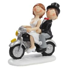 Brautpaar Tortenaufsatz Motorrad Hochzeitspaar Biker Hochzeit Roller Dekoration