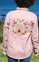 NWT Embroidered Back Festival Jacket Dusty Pink Size 10 -12 & PLUS SIZE 18-20