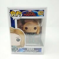 Funko POP! Marvel Captain Marvel Movie VERS #427 Pop Protector Genuine authentic