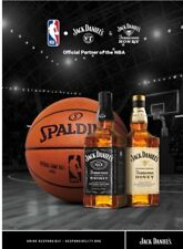 Jack Daniels/Jack Honey Official NBA Partners Poster. 18 By 24 Inch. New