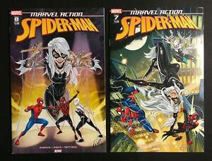 MARVEL ACTION SPIDER MAN 7 8 LOT MILES MORALES BLACK CAT V 1 NM VENOM CARNAGE