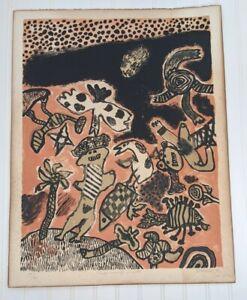 Guillaume Corneille Very Rare 1968 Pencil Signed Original Lithograph Print 5/30