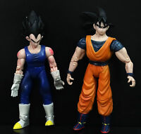 LOT 2 1989 Giochi Preziosi DragonBall Z DBZ ACTION FIGURES GOKU VETETA #DV3