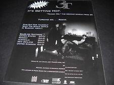 3T It's Getting Hot Michael Jackson involvement 1996 PROMO DISPLAY AD mint cond