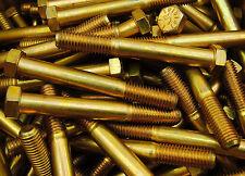 (20) Hex Head Bolts 9/16-12 x 4-1/2 Coarse Thread Grade 8 Yellow Zinc USA