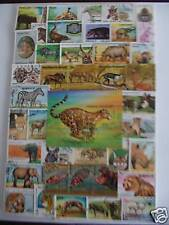 TIMBRES ANIMAUX D'AFRIQUE : 100 TIMBRES TOUS DIFFÉRENTS / AFRICAN STAMPS ANIMALS