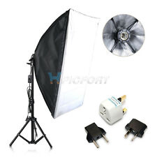 E27 50x70cm Folding Easy Softbox Light Stand Studio Continuous Lighting Kit