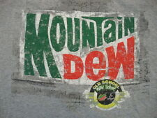 Mountain Dew Old School New Soda Pop Drink Amp Energy Distressed Gray T Shirt XL