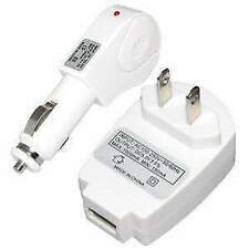 UNIVERSAL 2 IN 1 USB CAR CHARGER + AC CHARGER ADAPTER COMBO ACCESSORIES KIT