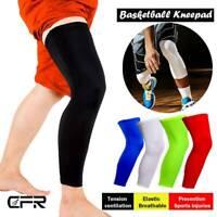 Knee High Leg Sleeve Support Compression Socks Men Women Sports Basketball OBS