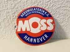 MOSS - Türschild -,  Original 50er/60er Jahre, gewölbt, Durchmesser 9 cm