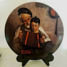 """Norman Rockwell Collector Plate """"The Music Maker"""" #Ag15585, Knowles China"""