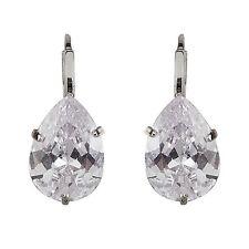 New 18K Swarovski Element Clear Crystal Cubic Zirconia Water Drop Earrings