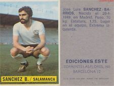 JOSE LUIS SANCHEZ BARRIOS # ESPANA UD.SALAMANCA CARD TARJETA ESTE LIGA 1975