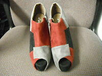 Style Shoes Size Uk 3 Red Black Grey Textile Leather Hi Heel Ladies Shoes