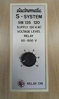 SM125120 ELECTROMATIC S-SYSTEM VOLTAGE LEVEL RELAY 120 VAC 50 - 500 V