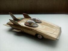 Vintage CRAGSTAN SPACE TIN ROCKET CAR FIREBIRD 3  GOLD