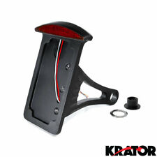 BLACK SIDE MOUNT LED BRAKE & LICENSE PLATE FITS CHOPPER HARLEY DAVIDSON CRUISER