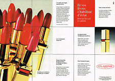PUBLICITE ADVERTISING 025  1994   CLARINS   rouge à lèvres  ( 2p)
