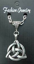 """20"""" or 24 Inch Necklace & Celtic Knot Triangle Trinity Charm Pendant Triquetra"""