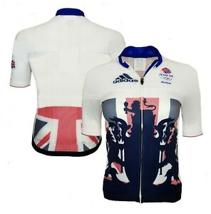Adidas Team GB Cycling Jersey Womens Small Athlete Issue Zip Jacket Top G