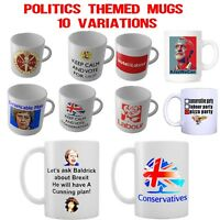 Politics Mugs - 10 Variations - Theresa May, Jeremy Corbyn, Labour, UKIP, Brexit