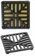 "Square 6"" (150mm) Cast Iron Heavy Duty Gully Grid Drive Grate Drain Cover Metal"