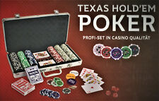 ASS Altenburger PROFI Texas Hold'em Poker Set, Pokerkoffer, 300 Chips Casino Neu