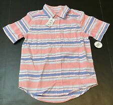 The Children's Place Boys Striped Button Down Shirt, Med (7/8) MSRP $18.95