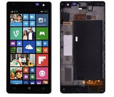 Nokia Lumia 730 735 LCD Display+Touch Screen Digitizer + Glass W Logo With Frame