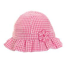 Baby Girl Pink & White Summer Sun Hat
