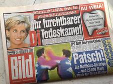 Bildzeitung vom 31.08.1999 * 18. 19. 20. Geburtstag Geschenk * Prinzessin Di