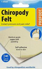 Profoot Chiropody Felt,Instant Pressure & Pain Relief,Self Adhesive Soft Padding