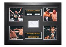 More details for michael bisping signed ltd edition framed picture memorabilia