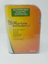 Microsoft Office Home and Student 2007 word excel PowerPoint 3 home PC user
